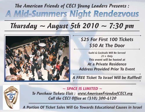 CECI Young Leaders Presents: A Mid-Summers Night Rendezvous